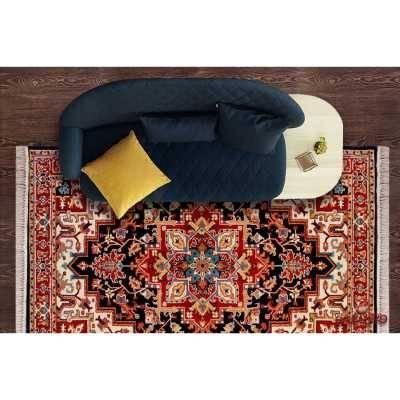 فرش  ماشینی ساوین طرح هریس سرمه ای