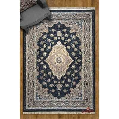 فرش مشهد اردهال کد75 مشکی پرکلاغی