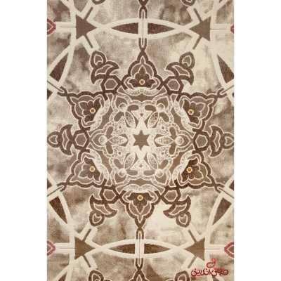 فرش  ماشینی ساوین کد 1509 صورتی