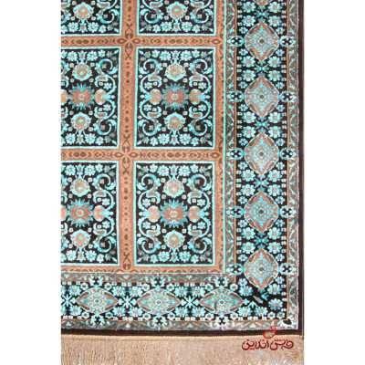 فرش ماشینی عرش طرح بیژن فندقی آبی