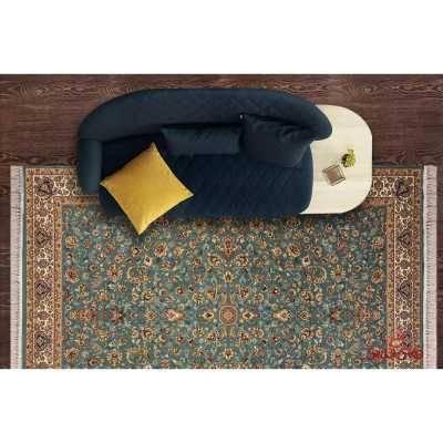 فرش نگین مشهد طرح 2591 رنگ کرم مسی