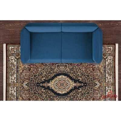 فرش نگین مشهد طرح 2590 رنگ گردویی