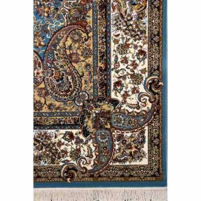 فرش نگین مشهد طرح 2590 رنگ آبی