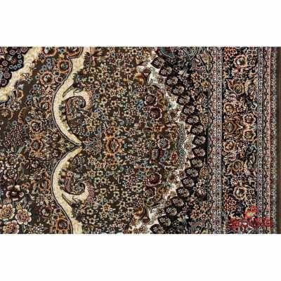 فرش نگین مشهد طرح 2580 رنگ گردویی