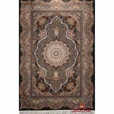 فرش شاهکار صفویه کد 2754 مشکی