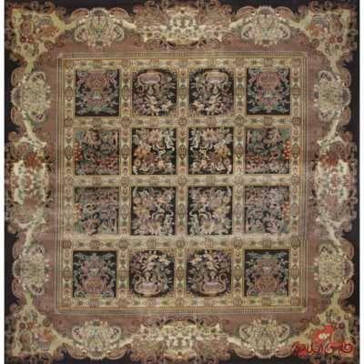 فرش مربع عرش طرح ماندگار مشکی