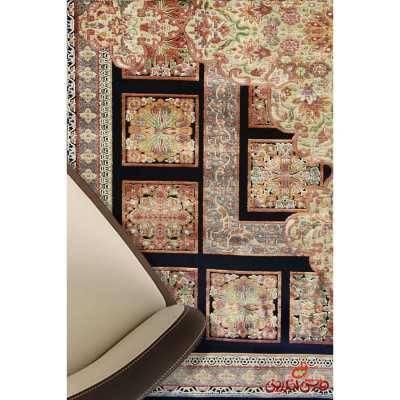 فرش ماشینی عرش طرح مسرور مشکی