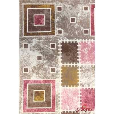 فرش ماشینی ساوین کد 1504 صورتی