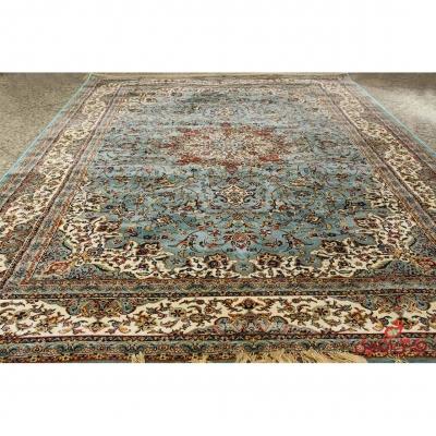فرش کرامتیان طرح اصفهان آبی کرم