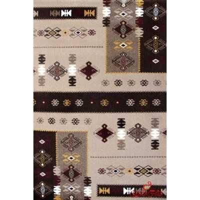فرش  ماشینی ساوین طرح  پونه شکلاتی