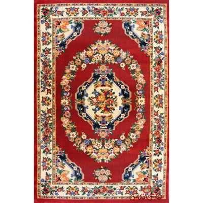 فرش پاتریس طرح گلاب سرمه ای
