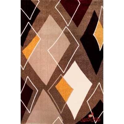 فرش ماشینی  ساوین طرح بامیس شکلاتی