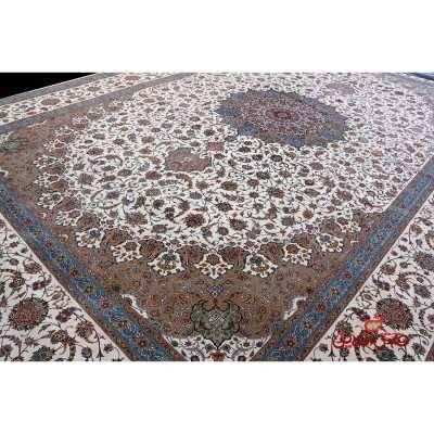 فرش بزرگ پارچه طرح نایین سفید