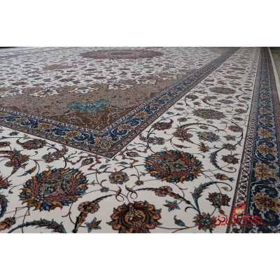 فرش بزرگ پارچه طرح نایین کرم