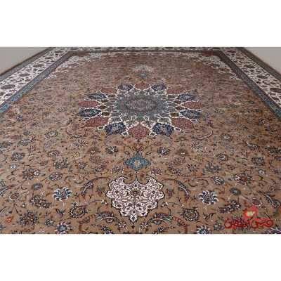فرش بزرگ پارچه طرح نایین آبی