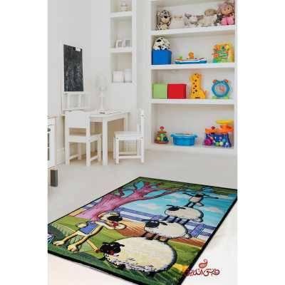 فرش کودک برلیان طرح بره ناقلا 2056