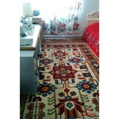 فرش  ماشینی ساوین طرح مهربان کرم