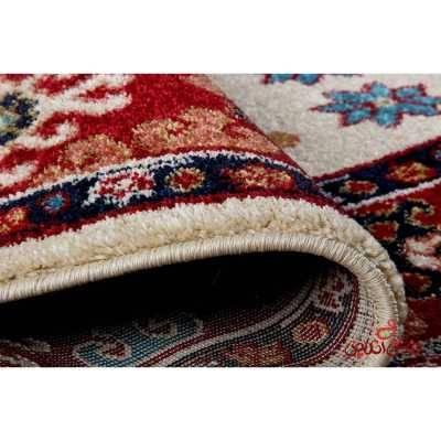 فرش  ماشینی ساوین طرح قشقایی کرم