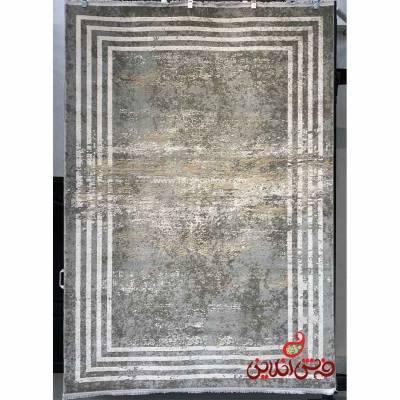 فرش ماشینی آرمانی کلکسیون باسیل کد 7104 فیلی
