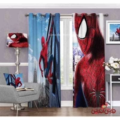 پرده 2عددی کودک طرح مرد عنکبوتی کد 3668