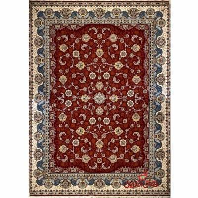 فرش ماشینی شاهکار صفویه 3830 قرمز