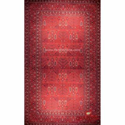 فرش ماشینی شاهکار صفویه 4747 قرمز