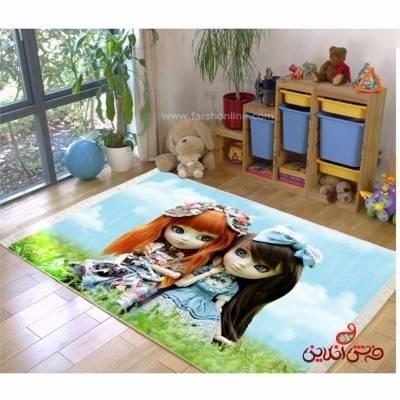 فرش ماشینی کودک کلاریس طرح دخترانه کد 100252