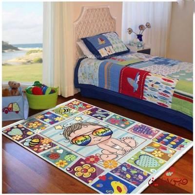 فرش ماشینی کودک کلاریس طرح بچه کد 100265