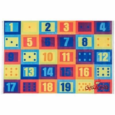 فرش ماشینی کودک کلاریس طرح اعداد کد 100255