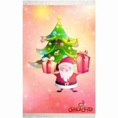 فرش ماشینی کودک کلاریس طرح بابا نوئل  کد 100303