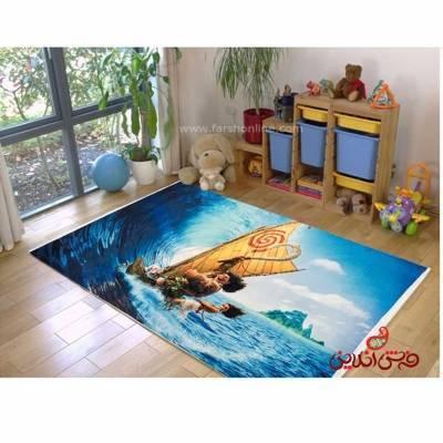 فرش ماشینی کودک کلاریس طرح انیمیشن   کد 100204
