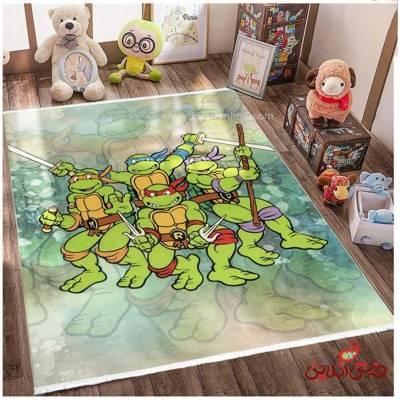 فرش ماشینی کودک کلاریس طرح انیمیشن لاک پشت های نینجا  کد 100266