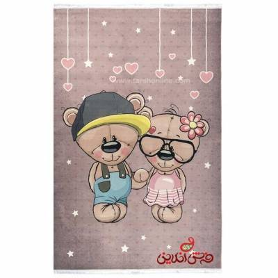 فرش ماشینی کودک کلاریس طرح خرس کوچولو  کد 100270