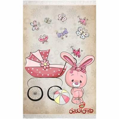 فرش ماشینی کودک کلاریس طرح خرگوش کوچولو  کد 100334