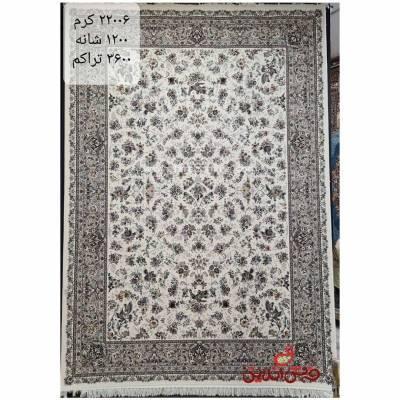 فرش زمرد مشهد برجسته طرح 22006 کرم