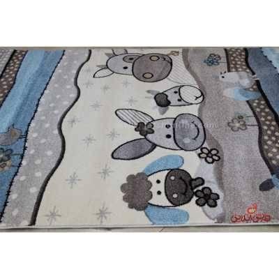 فرش ماشینی کودک ساوین 4034 کرم