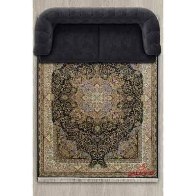 فرش پاتریس طرح زرین مشکی